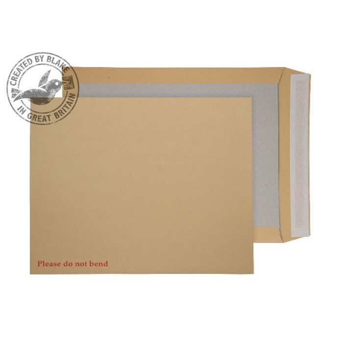 Purely Packaging Envelope Board Backed P&S 394x318mm Manilla Ref 15935 Pack 125 *10 Day Leadtime*