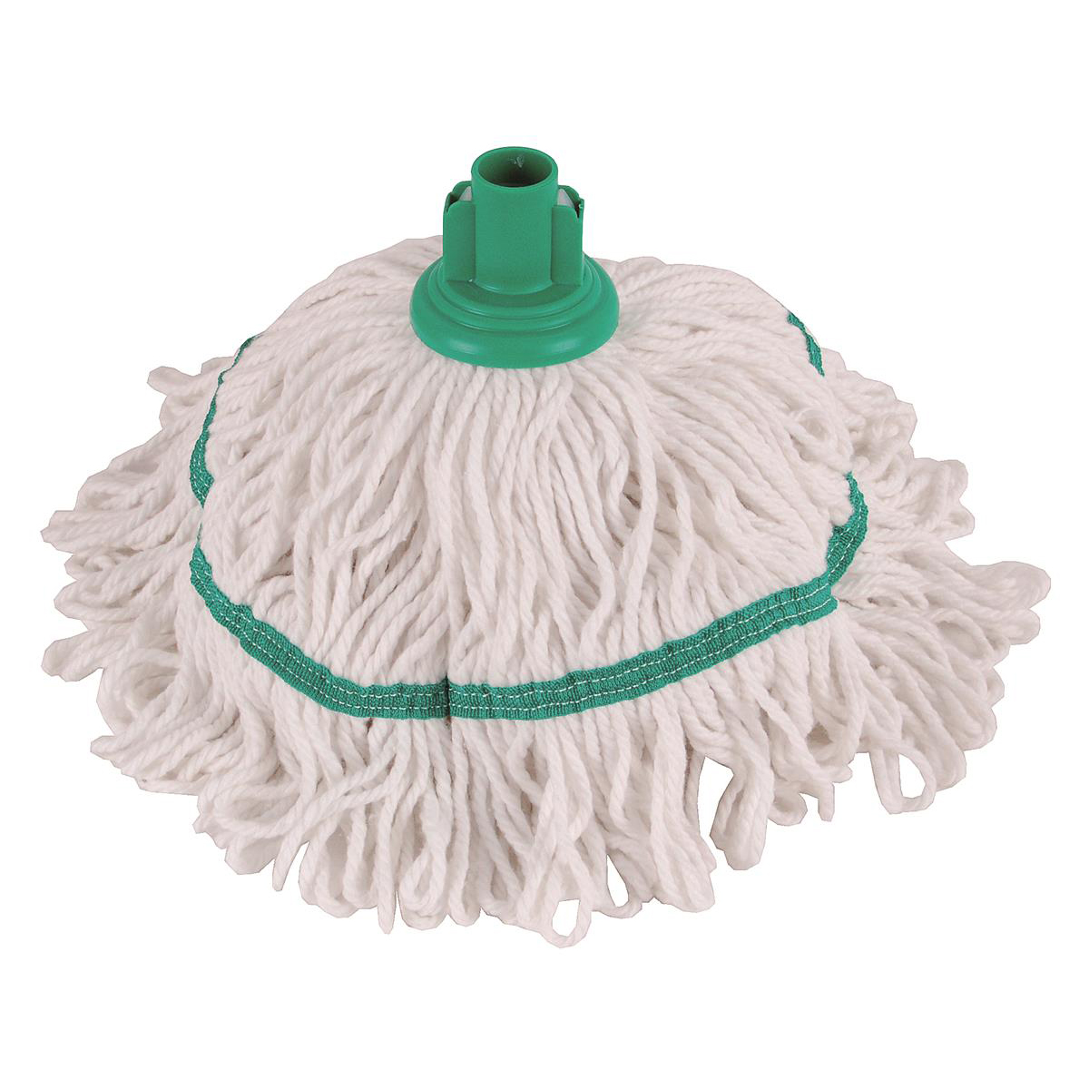 Robert Scott & Sons Hygiemix T1 Socket Cotton & Synthetic Colour-coded Mop 250g Green Ref 103064GREEN