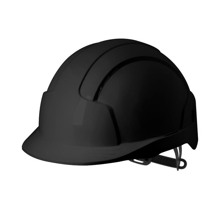 Safety helmets JSP EVOLite Safety Helmet ABS 6-point Terylene Harness EN397 Standard Black Ref AJB160-001-1G1