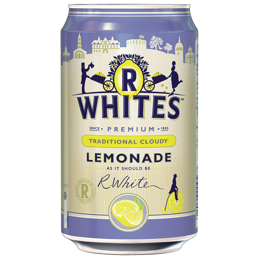 R Whites Cloudy Lemonade Drink Can 330ml Ref 201293 [Pack 24]