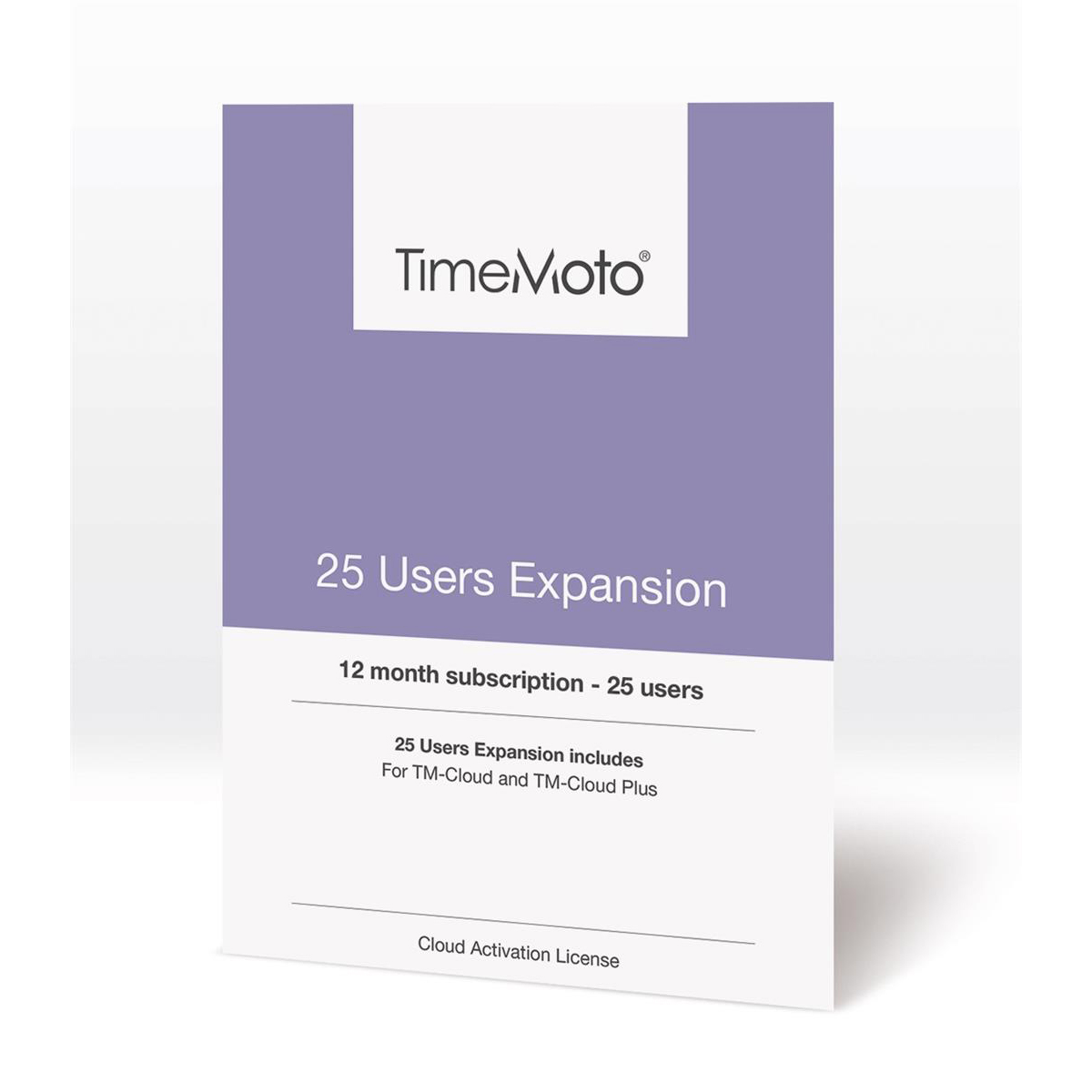 Safescan TimeMoto TM Cloud User Expansion 25 Users Ref 139-0592