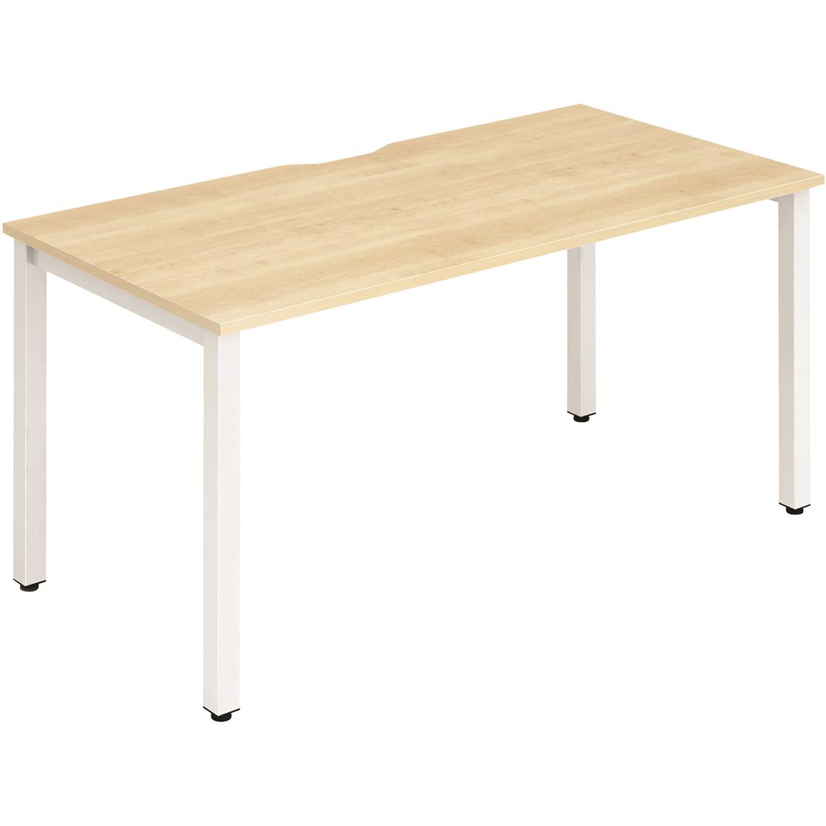 Trexus Bench Desk Individual White Leg 1200x800mm Maple Ref BE116