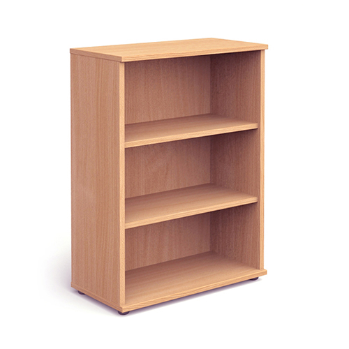 Trexus Office Medium Bookcase 800x400x1200mm 2 Shelves Beech Ref I000050