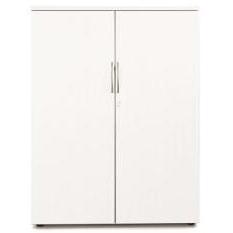Sonix Medium Two Door 1000x525x1200mm Cupboard Polar White Ref w9865wh