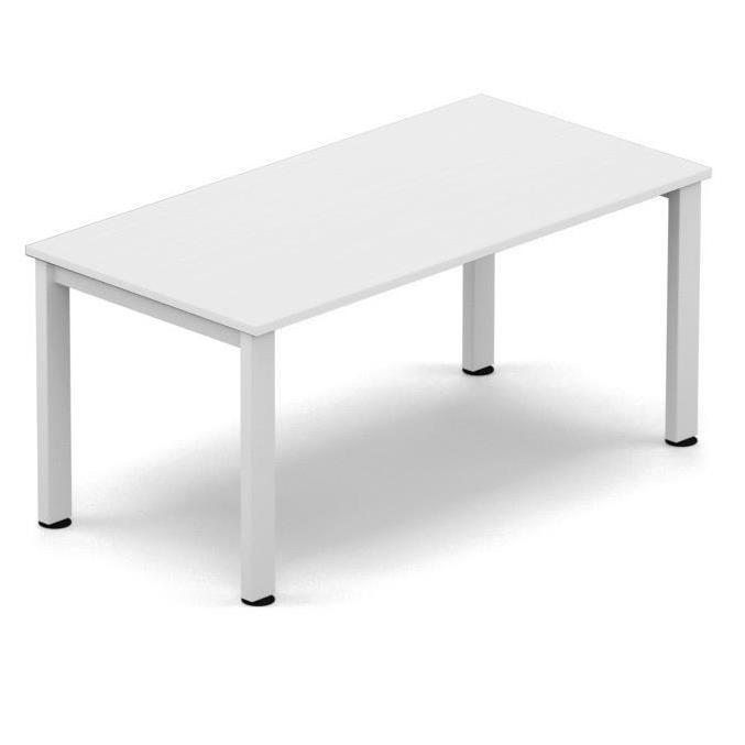 Sonix Meeting Table White legs 1600x800mm White Ref fb1608mtwhwh