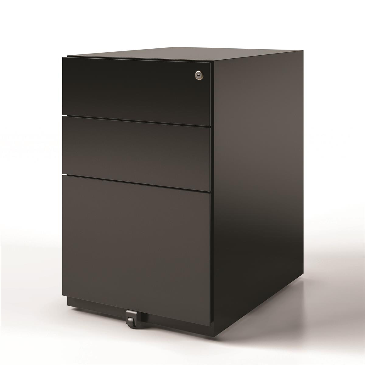 Sonix 3 Drawer Tall Under Desk Filing Pedestal 420x565x645mm Black Ref NWA52M7SSF-av1