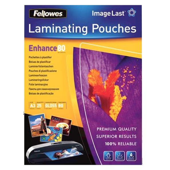 Laminator pouches Fellowes Laminating Pouch 160 Micron A3 Ref 5396403 [Pack 25]