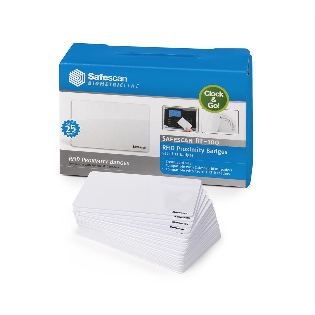 TimeMoto by Safescan RF-100 Cards RFID for TimeMoto & Safescan Terminals Ref 125-0603 Pack 25