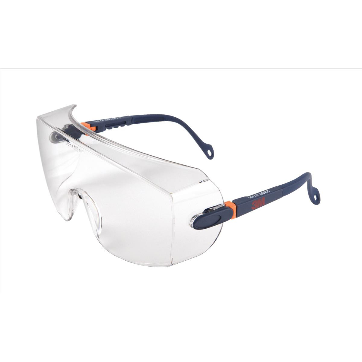 Image for 3M Classic Line Over Safety Spectacles Optical Class 1 Impact Resistant Integral Brow Guard Ref 2800 CLO