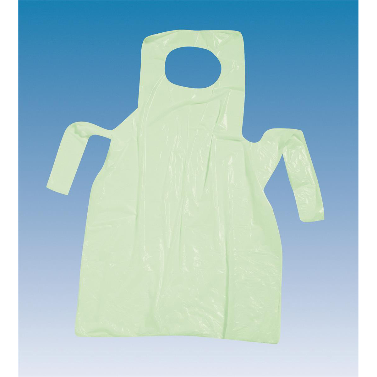Aprons On Roll Polythene 17 Micron 27x46in Green [Roll of 200]