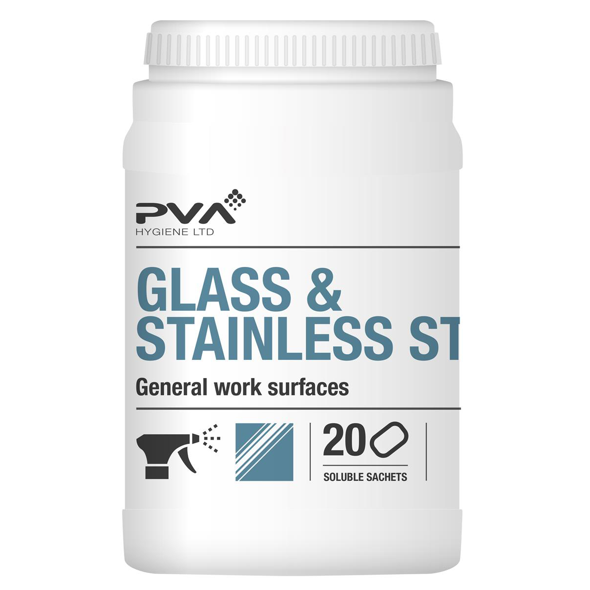 PVA Glass & Stainless Steel Cleaner Sachets Citrus Ref 4018018 [Pack 20]