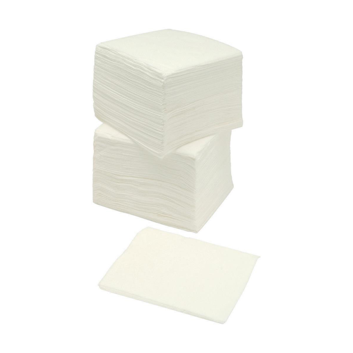 Paper napkins or serviettes 5 Star Facilities Napkin 2-ply 400x400mm White Pack 100