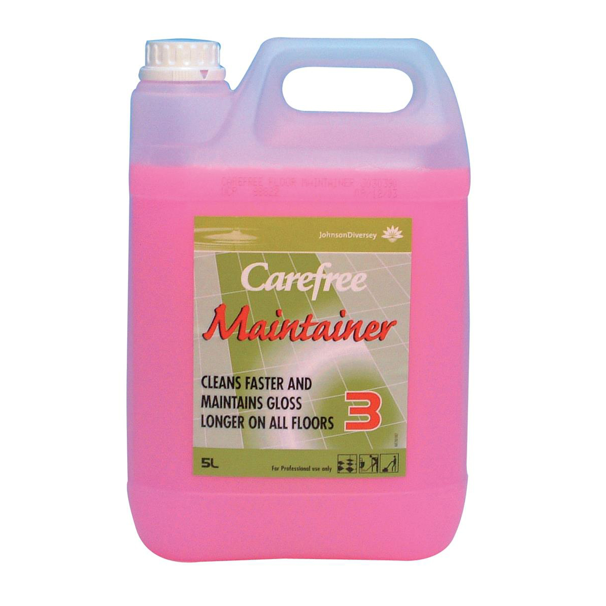 Floor Cleaning Johnson Diversey Carefree Floor Maintainer Step Three 5L Ref J030390