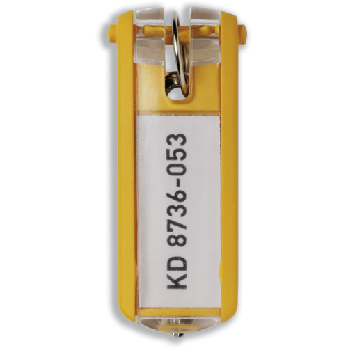 Durable Key Clip Yellow Ref 1957-04 Pack 6