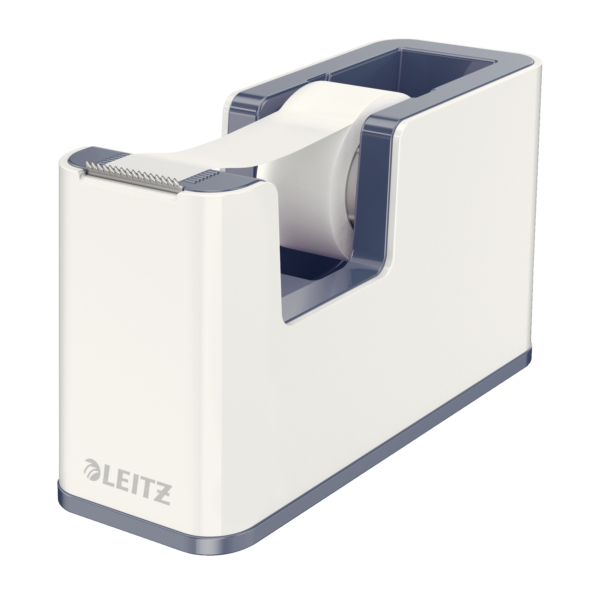 Tape dispensers Leitz Tape Dispenser WOW Including Tape for rolls 19mmx33m White Ref 53641001