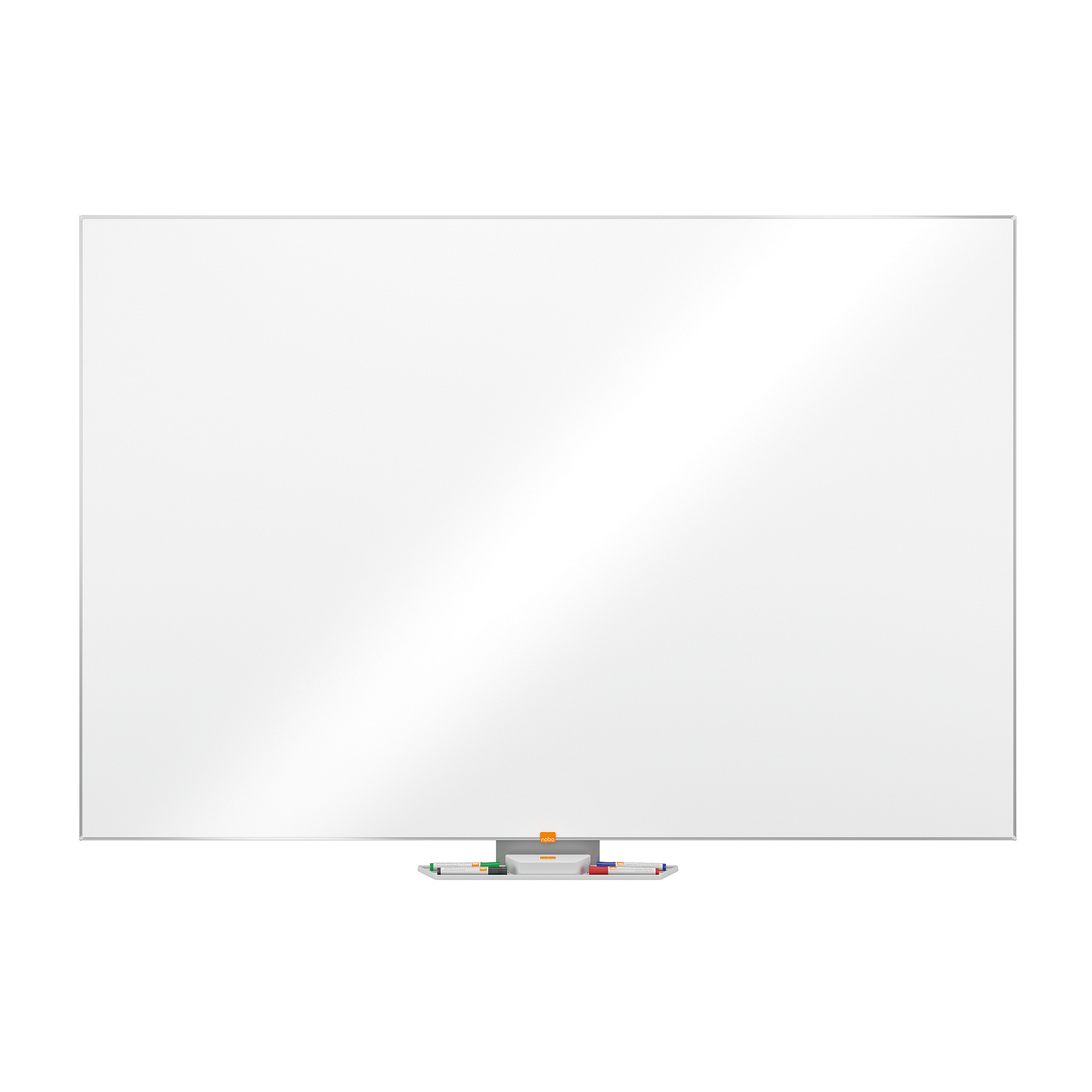 Magnetic Nobo Classic Nano CleanDrywipe Board Magnetic with Fixings 1800x1200mm Aluminium Ref 1902648