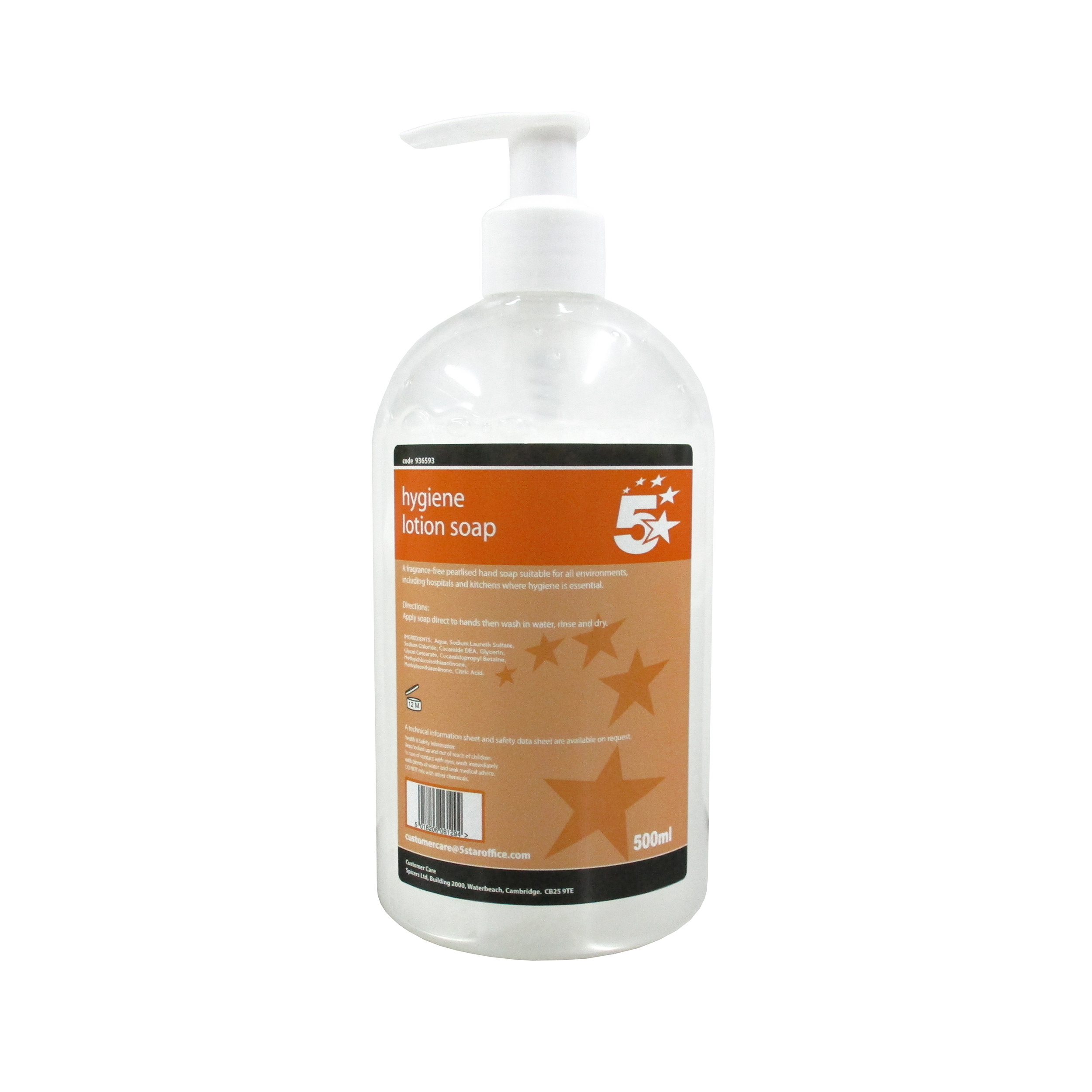 Floor Cleaning 5 Star Facilities Hygiene Lotion Soap 500ml