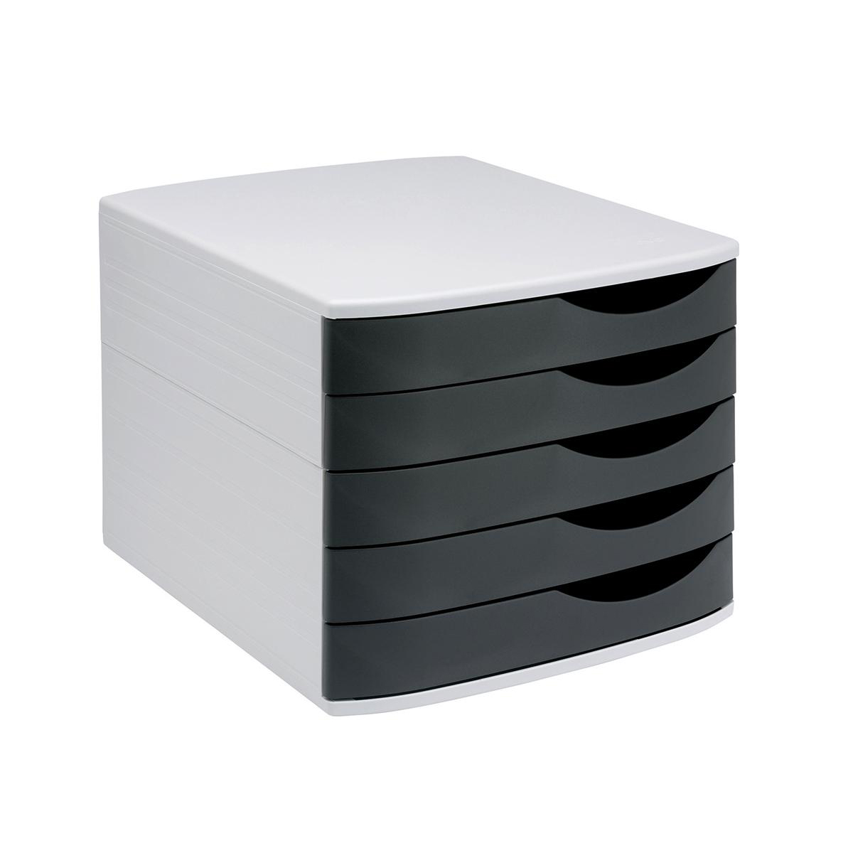 5 Star Elite Desktop Drawer Set 5 Drawers A4 & Documents up to 260x350mm Grey/Black