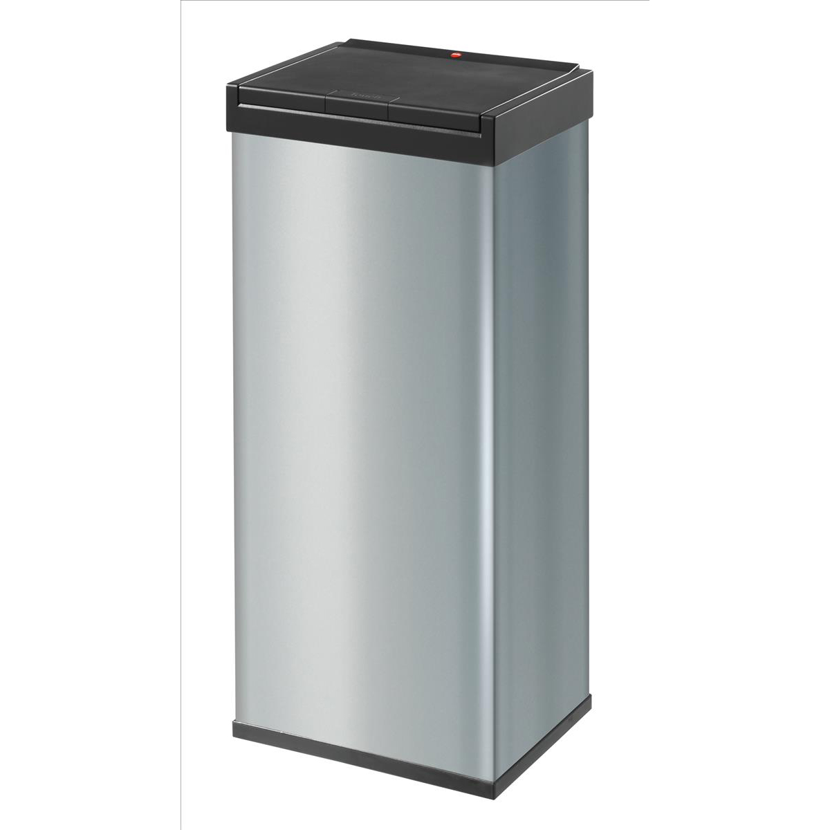 Rubbish Bins Big Bin Touch Steel and Impact-resistant Plastic Flat Packed 60 Litre Silver Ref 0860-601