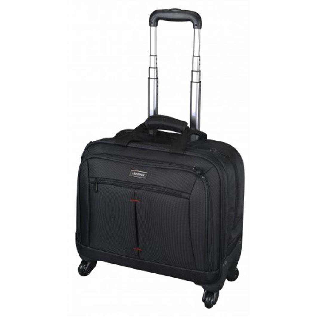 Lightpak Star Business Trolley With 15in Laptop Case Nylon Black Ref 46116
