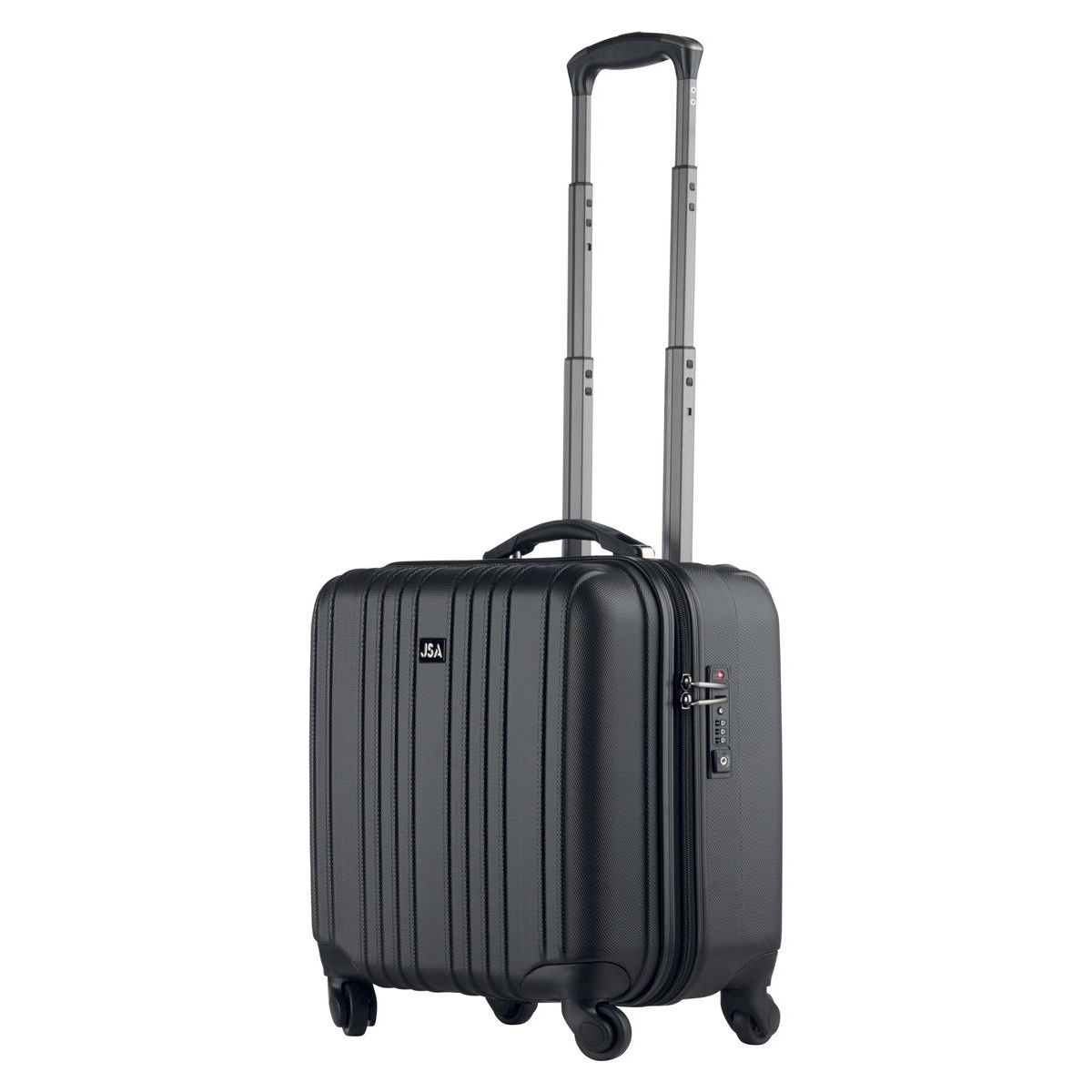 Juscha Trolley Case with Detachable Business Case Nylon with TSA Lock Black 45554