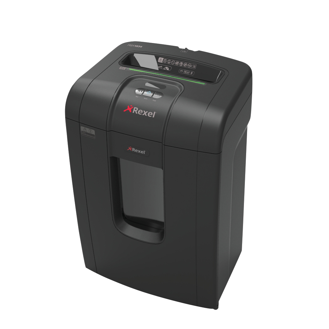 Rexel RSX1834 Shredder 4.0x40mm Cross Cut 34 Litre 18 Sheet P-4 Ref 2105018 [REDEMPTION]