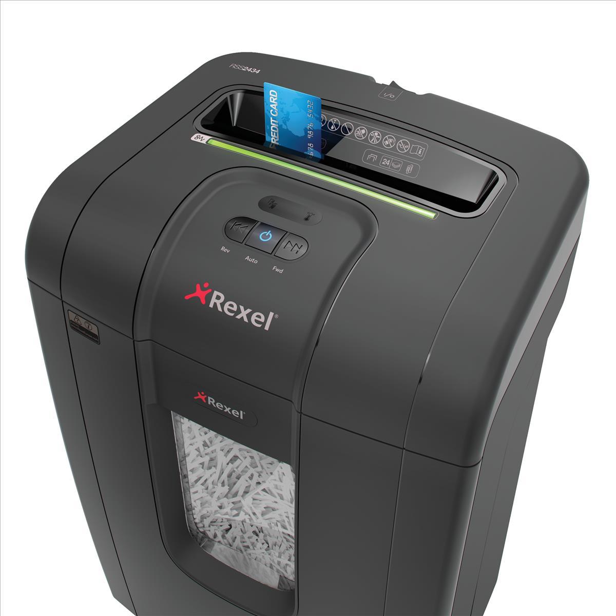 Rexel Mercury RSS2434 Shredder Strip Cut P-2 Ref 2105024