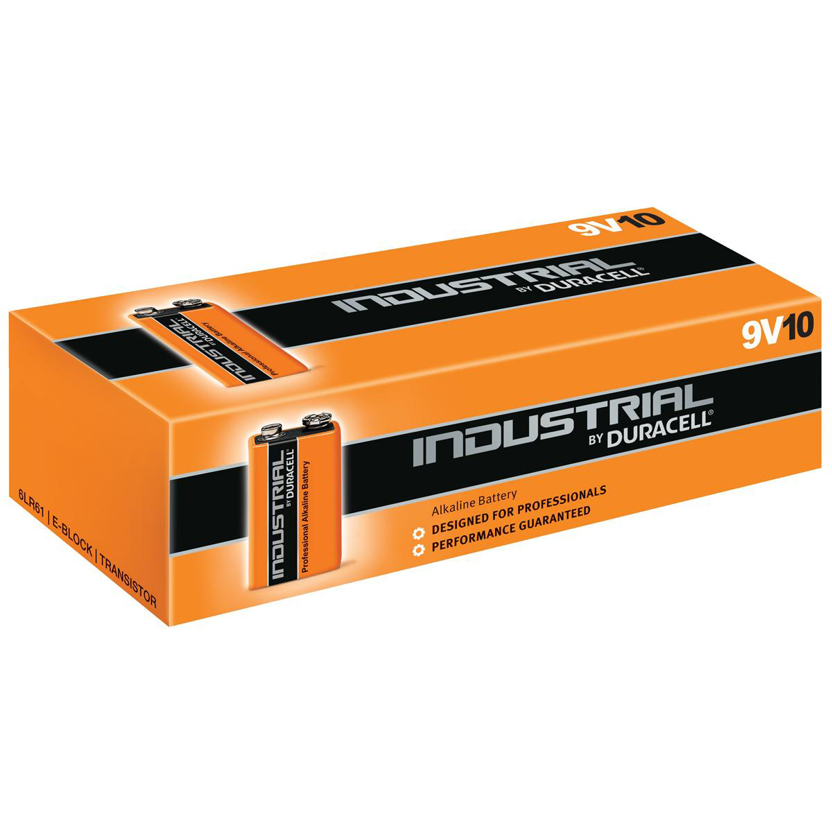 Duracell Industrial Battery Alkaline 9V Ref 81451922 Pack 10