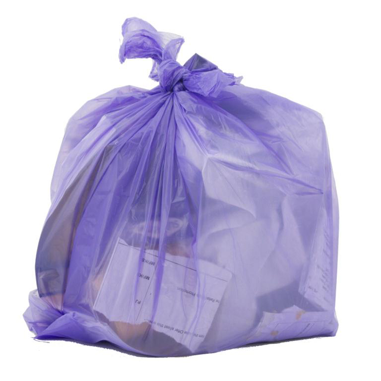 Le Cube Pedal & Waste BinLiners in Dispenser Box 15Litre Capacity 440x450mm Lilac Ref RY00362 Pack 300