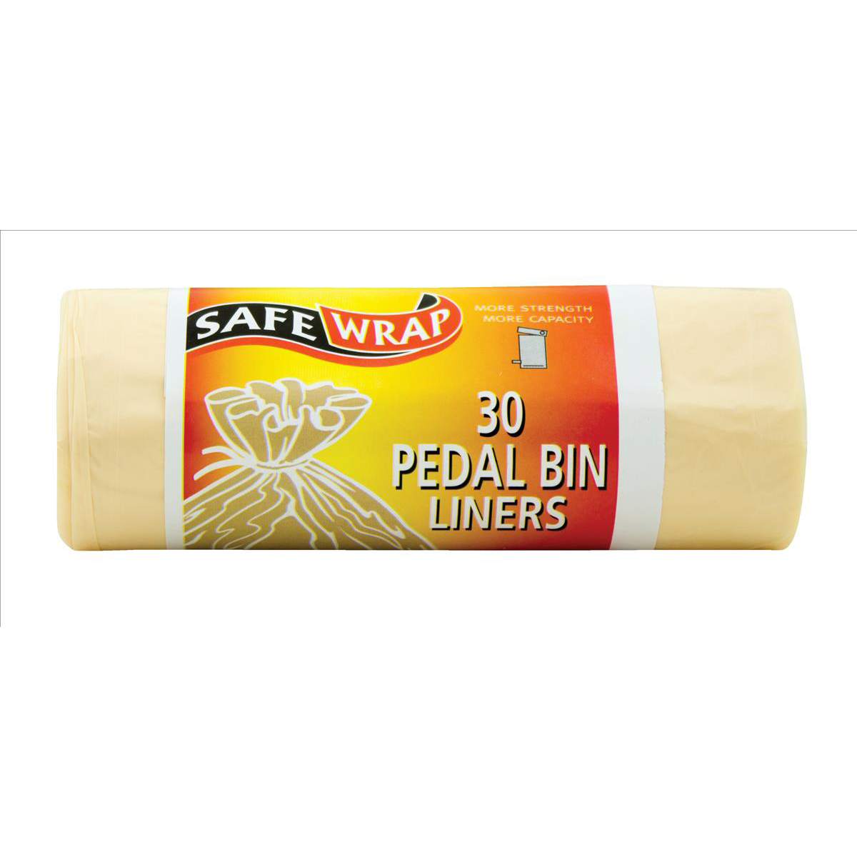 Safewrap Pedal Bin Liners 15Litre Capacity 30 Sacks per Roll 1066x457mm White Ref RY00432 4 Rolls