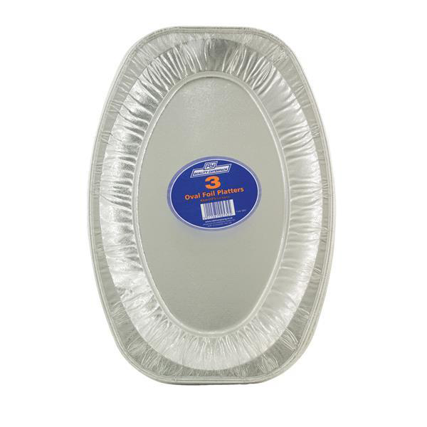 Trays Robinson Young Caterpack Food Platter Foil Oval 430mm Ref RY03891 Pack 3