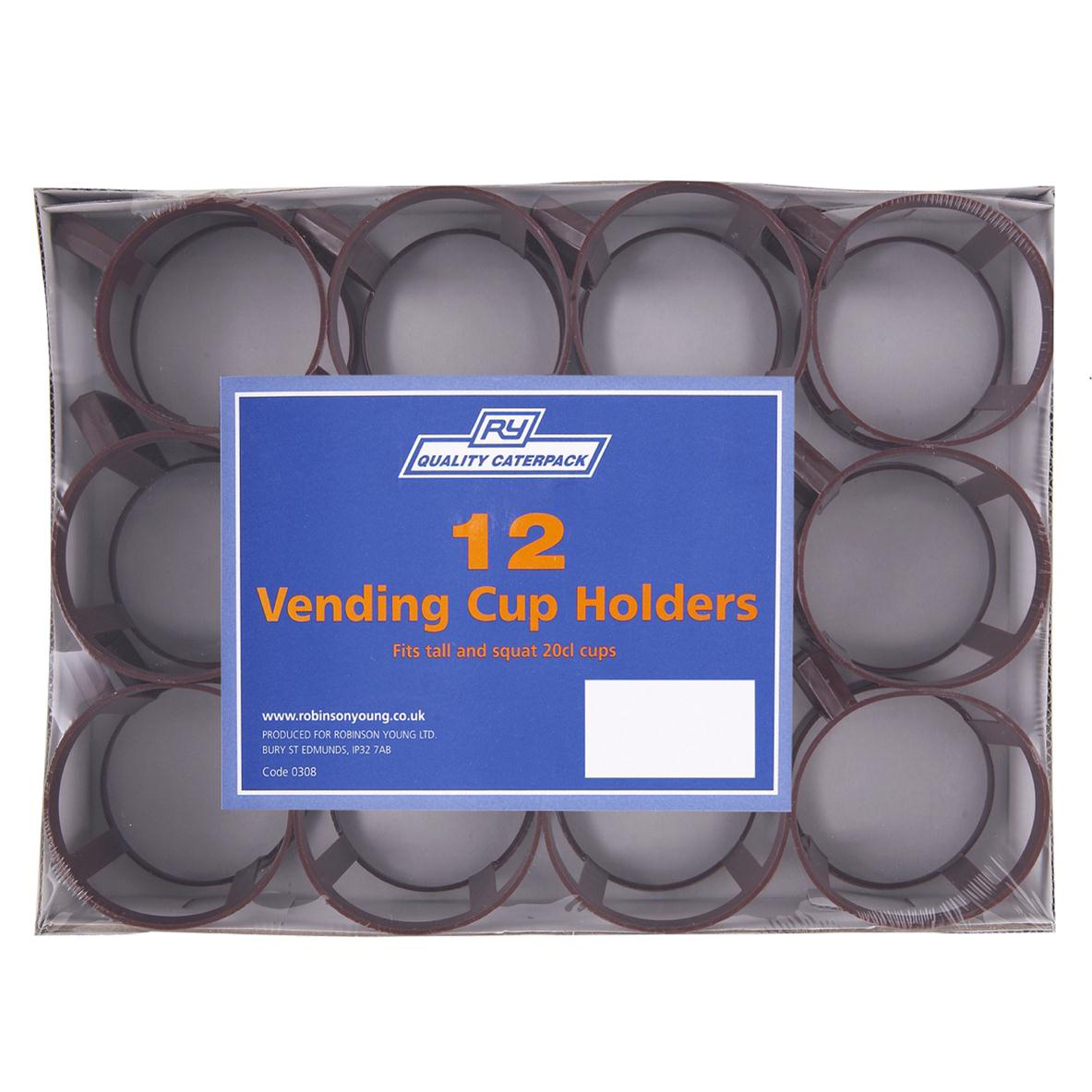 Vending Cup Holder Fits 7oz Cup Polypropylene Brown Ref RY00308 [Pack 12]