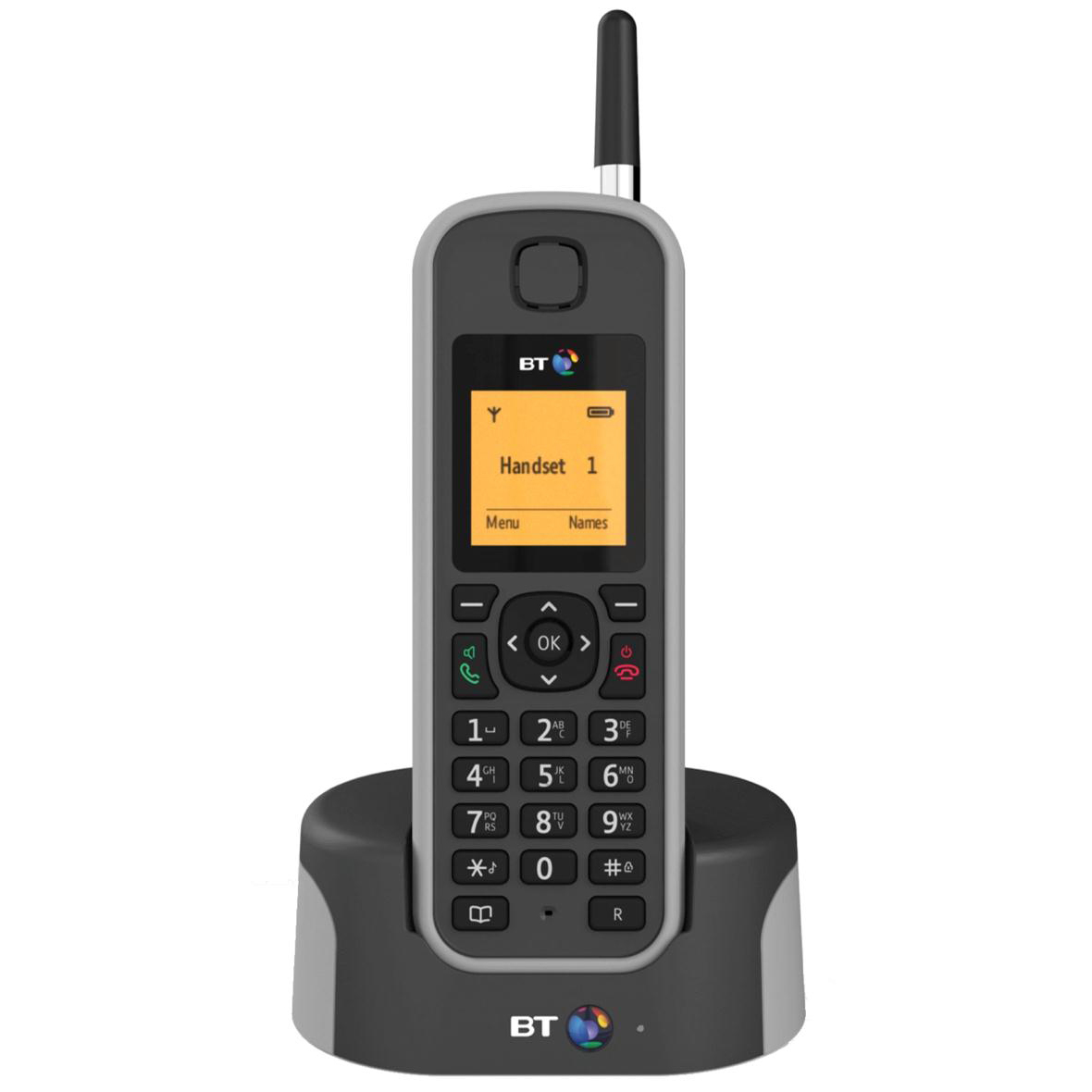 BT Elements DECT Telephone Cordless 1000m Range 100-entry Directory 30 Redials Ref 79842