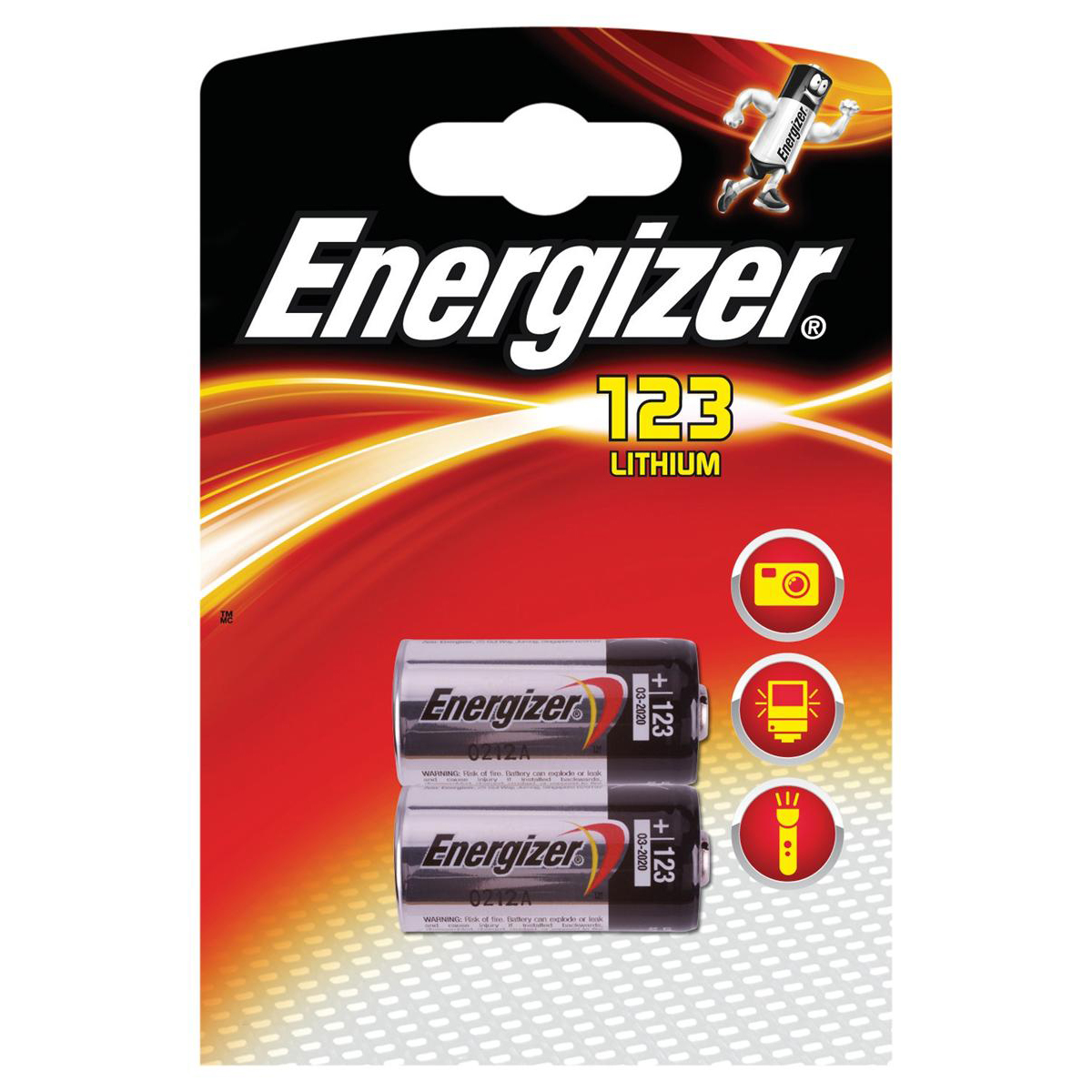 Energizer Lithium Batteries for Cameras Ref 628289 [Pack 2]
