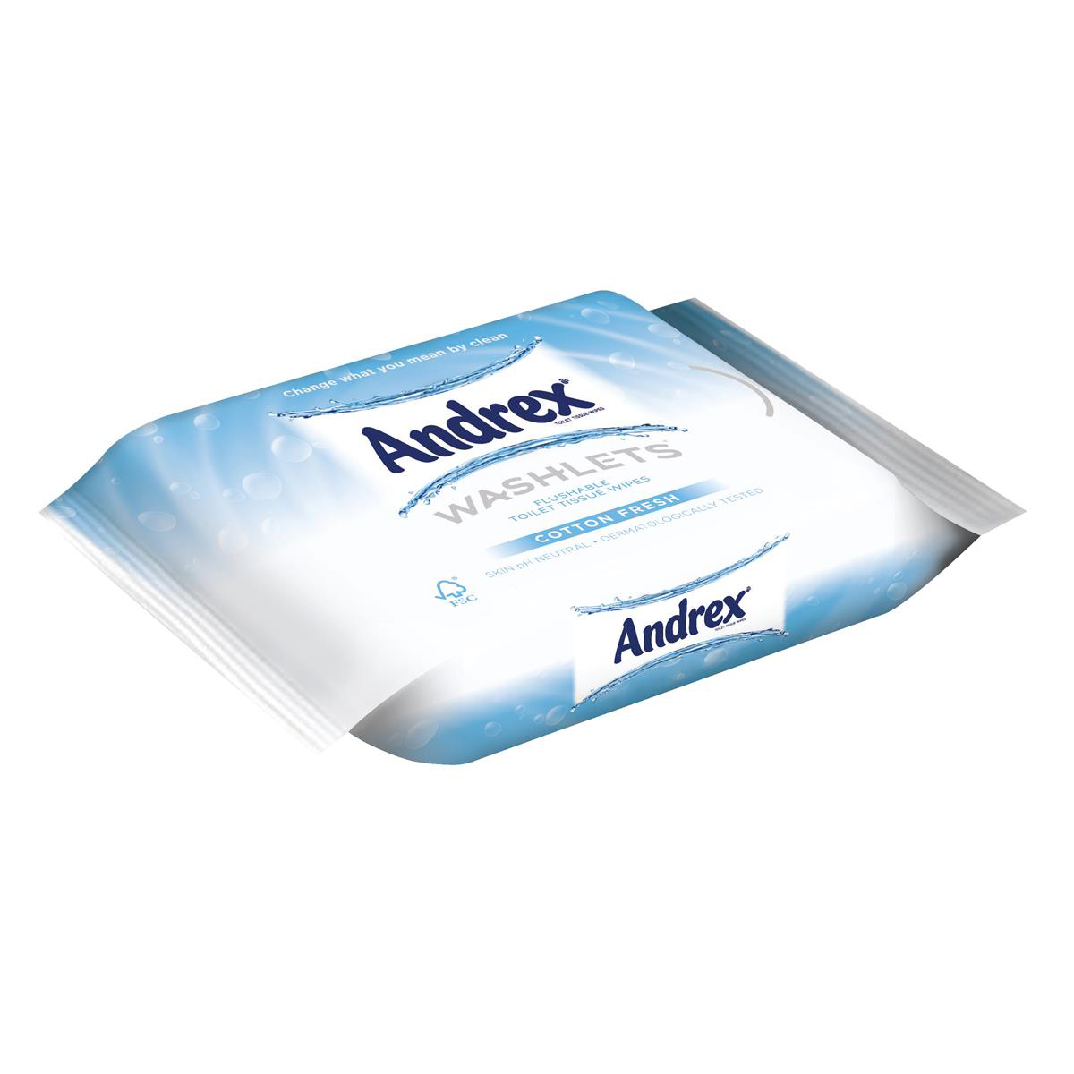 Andrex Toilet Tissue Moist Washlets Flushable 42 Sheets 190x130mm Cotton Fresh Ref 0699204 Pack 1