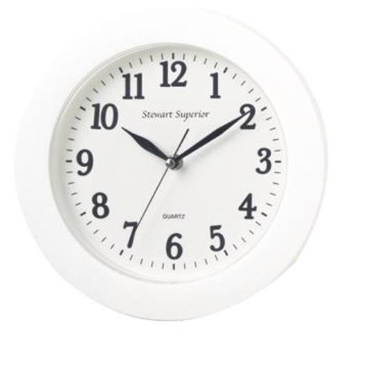 Wall 5 Star Facilities Wall Clock Plastic 12 Hour Dial Diameter 250mm White