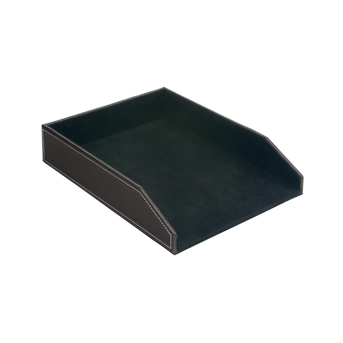 5 Star Elite Letter Tray Faux Leather Brown