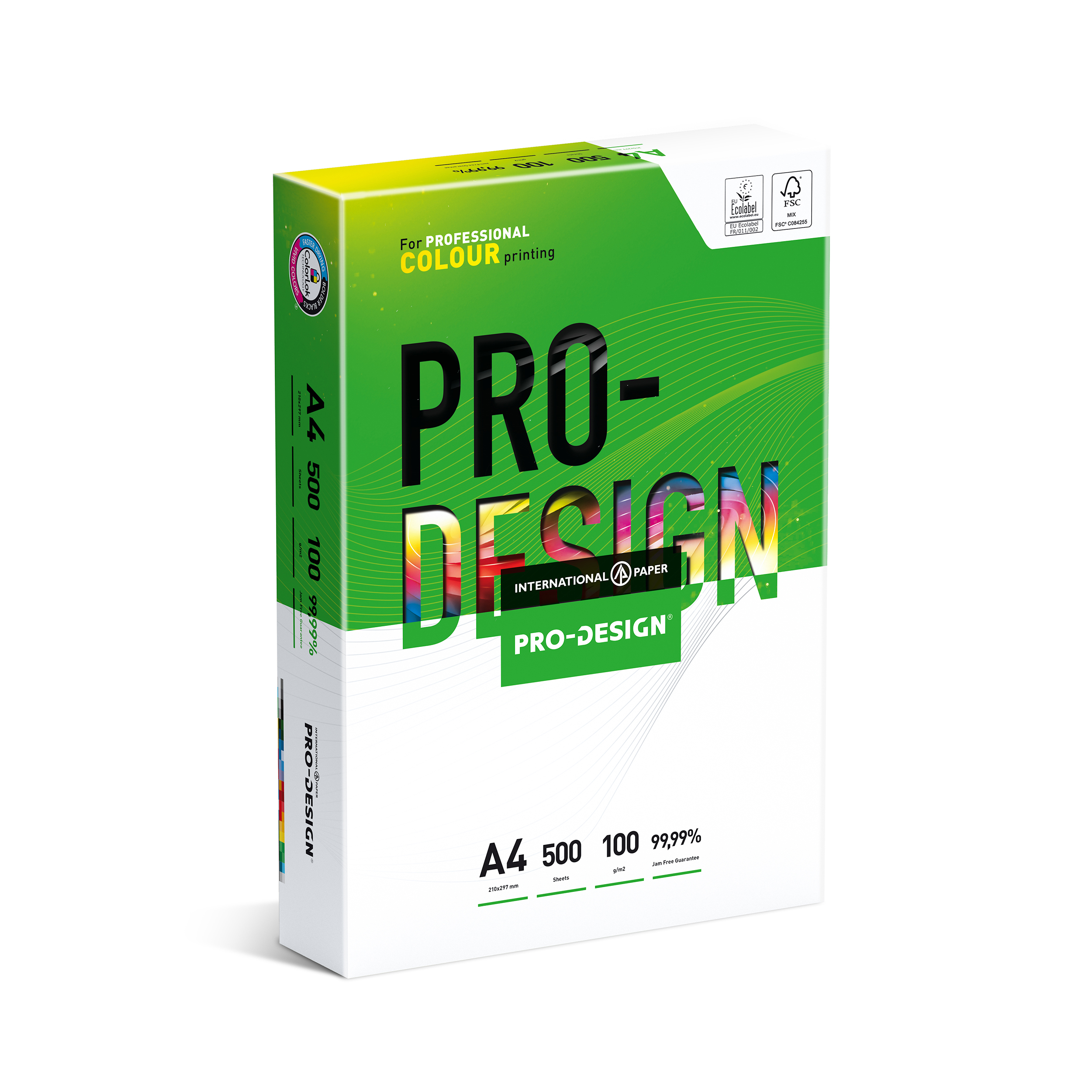 Copier Paper  ProDesign A4 Colour Presentation Paper Ream-Wrapped 100gsm White PDFSC21100 500 Sheets