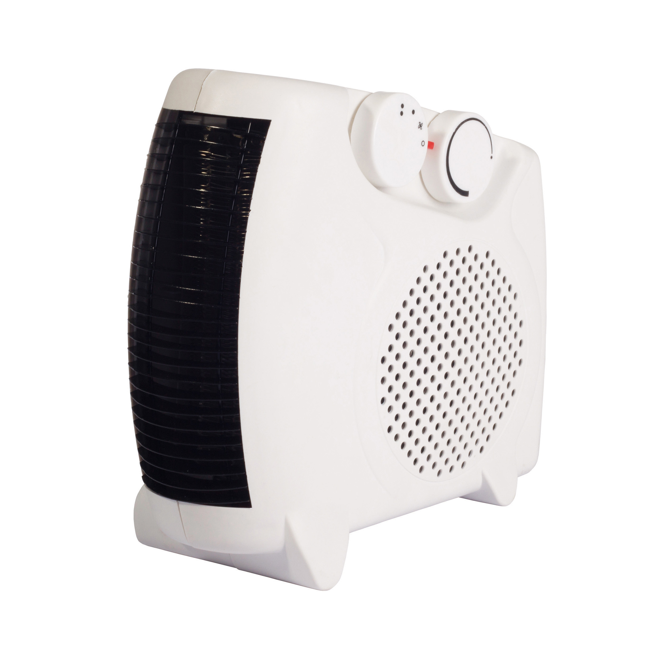 Fan Heaters Igenix 2kW Uprigh/Flat Fan Heater White Ref IG9010