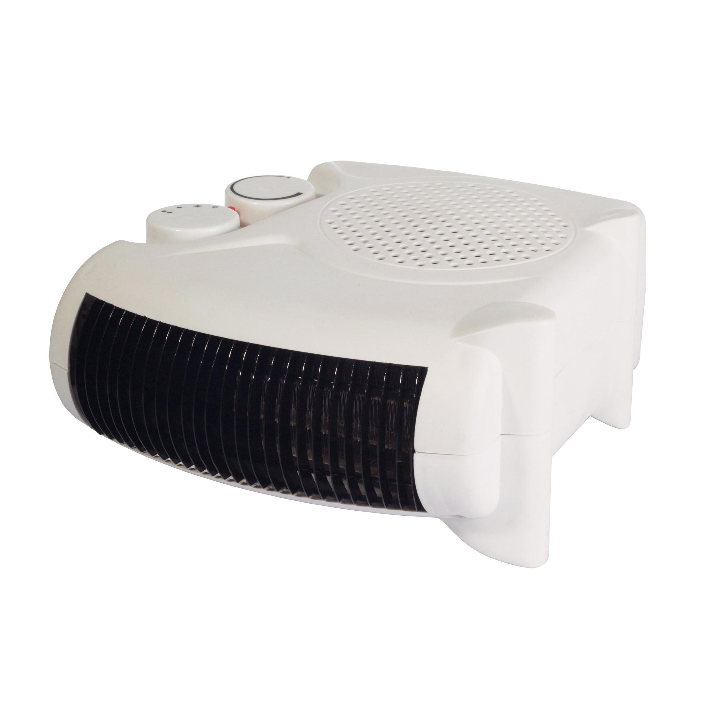 Igenix 2kW Uprigh/Flat Fan Heater White Ref IG9010