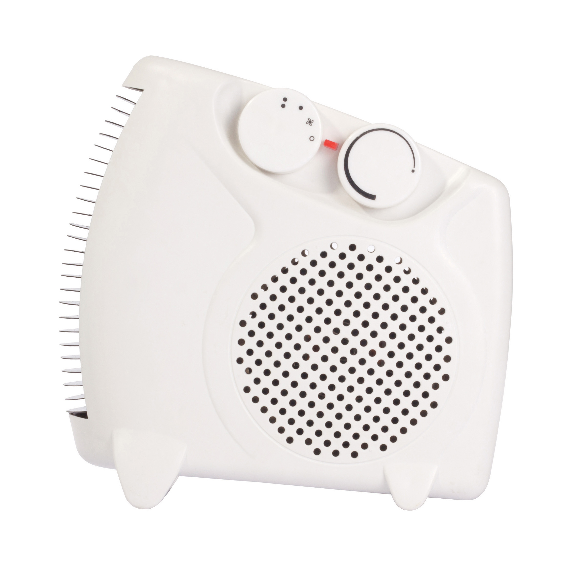 Igenix 2kW Uprigh/Flat Fan Heater White Ref IG9010