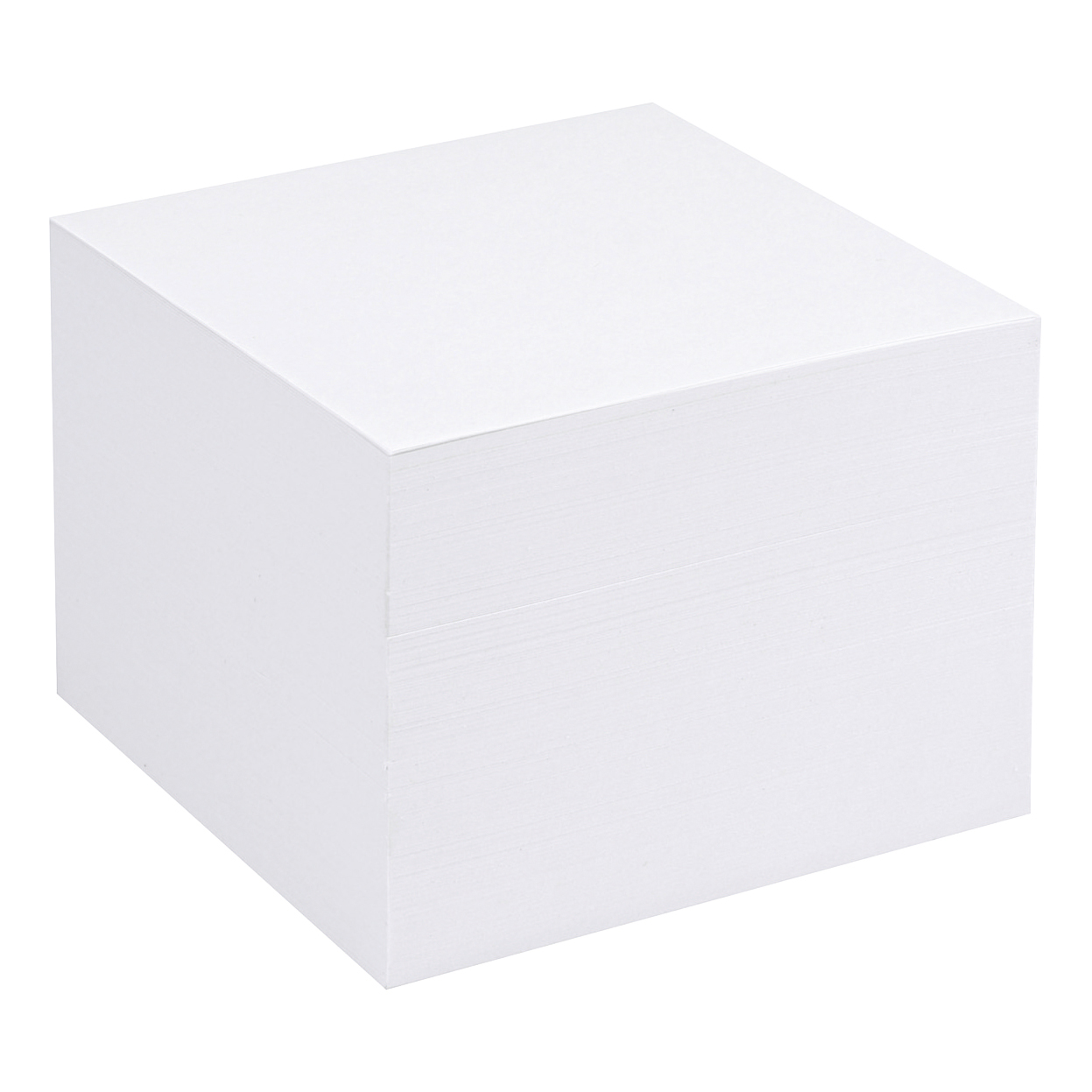 Notepaper Holder & Refills 5 Star Office Refill Block for Noteholder Cube Approx. 750 Sheets of Plain Paper 90x90mm White