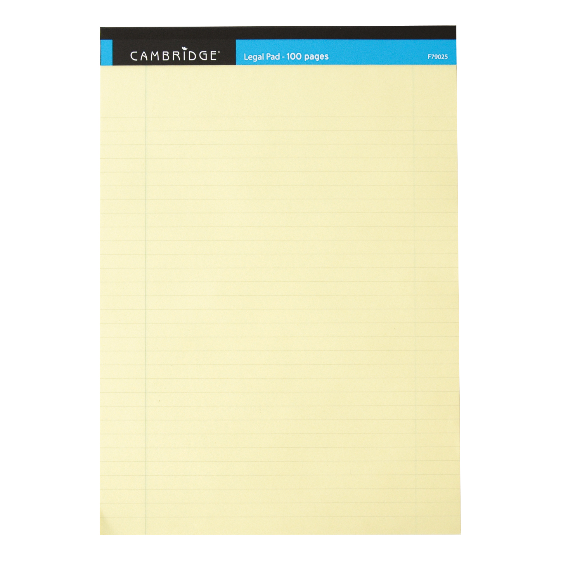 Cambridge Legal Pad Headbound Ruled Margin Perforated 100pp A4 Yellow Paper Ref 100080179 [Pack 10]