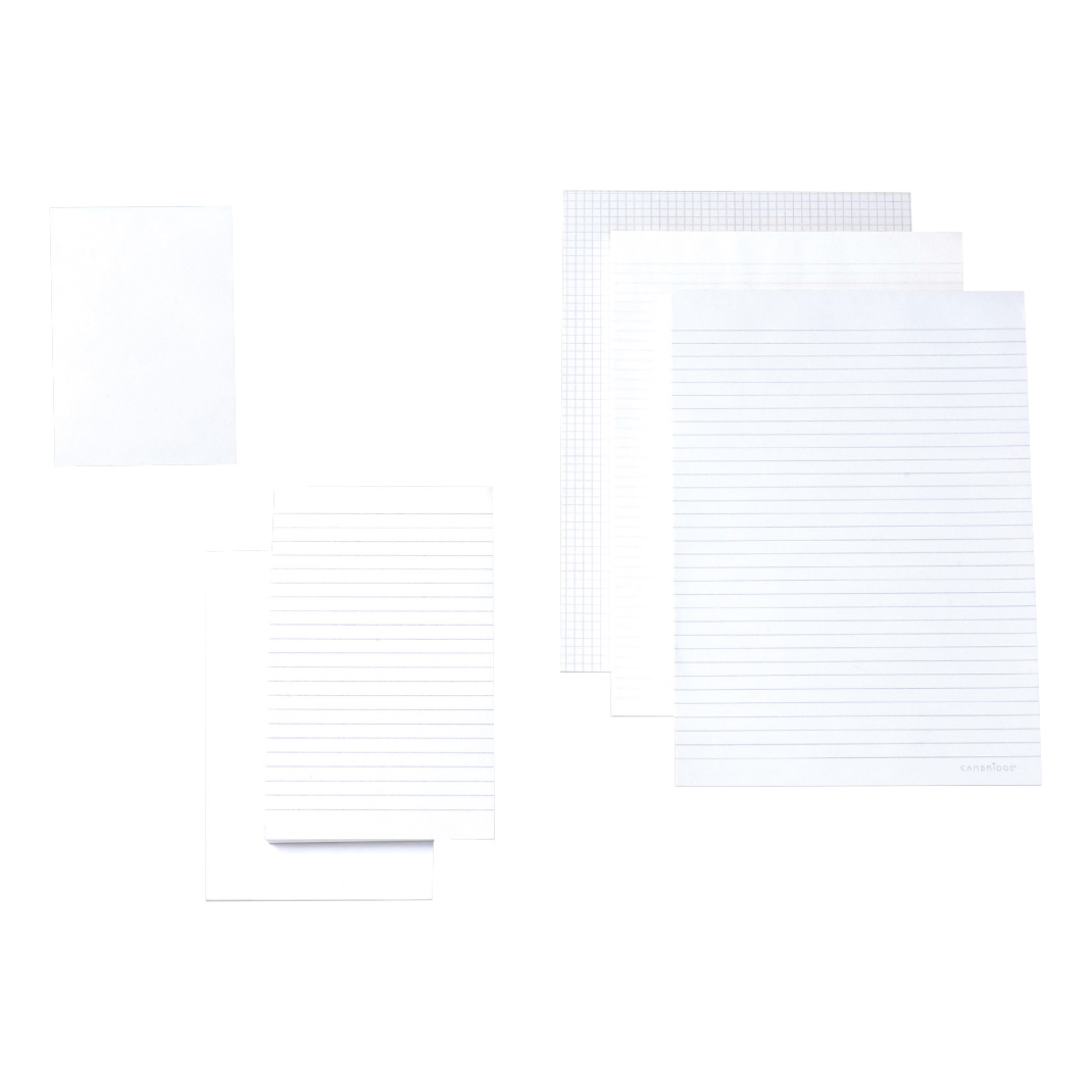 Memo Pads Cambridge Memo Pad Headbound 70gsm Plain 160pp A6 White Paper Ref 100080233 Pack 10