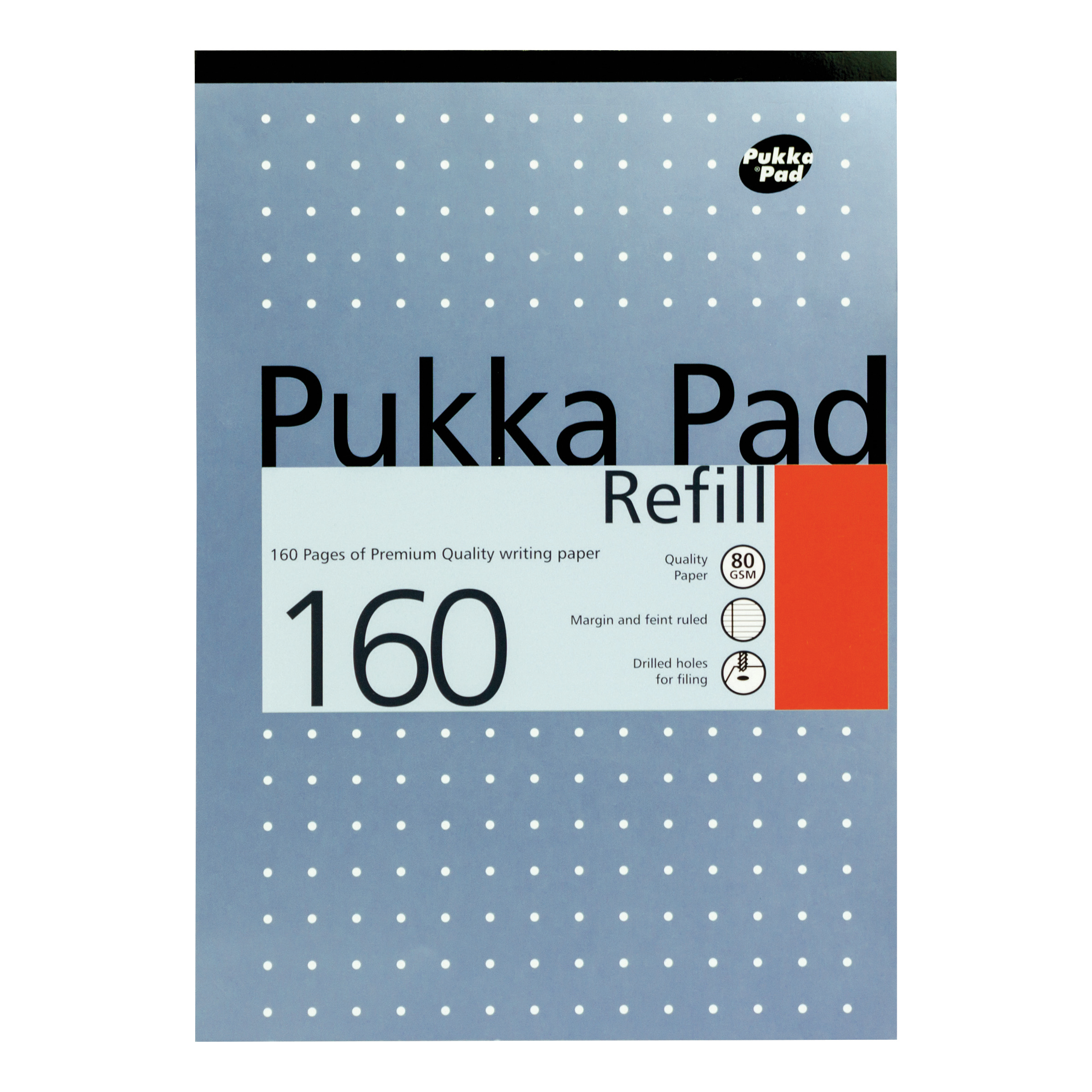 Pukka Pad Refill Pad Headbound 80gsm Ruled Margin Punched 4 Holes 160pp A4 Assorted Ref REF80/1 Pack 6