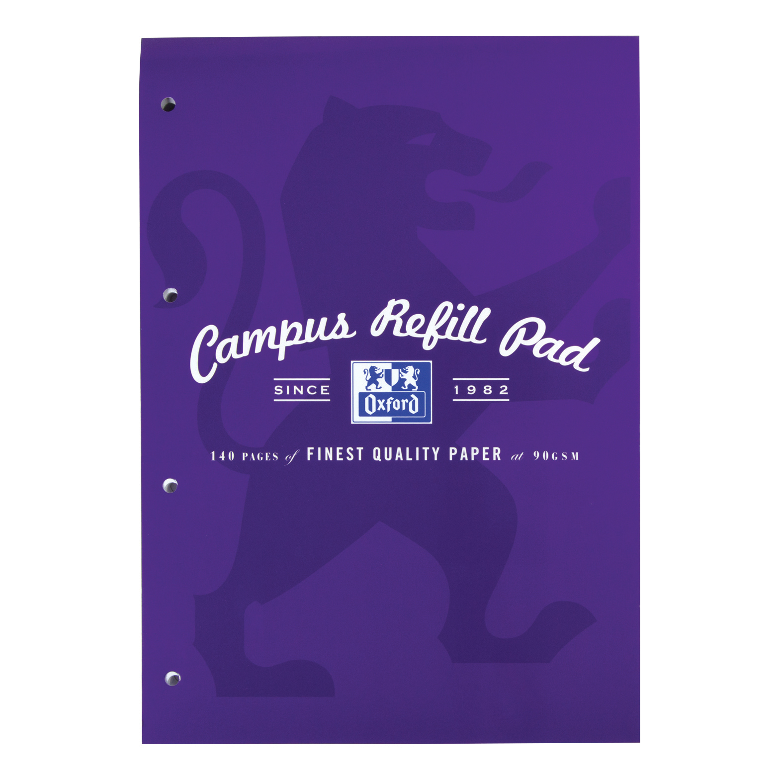 Oxford Campus Refill Pad Hbd 90gsm Ruled Margin Punched 4 Holes 140pp A4 Assorted Ref 400013925 [Pack 5]