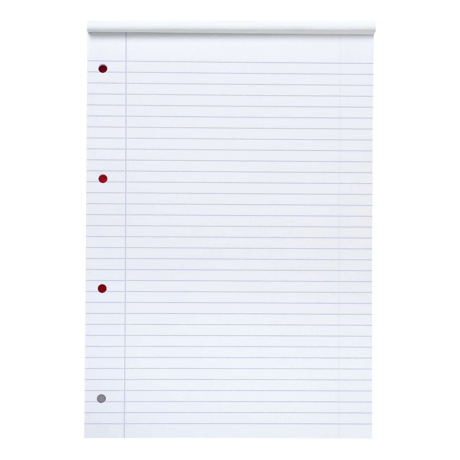5 Star Office FSC Refill Pad Headbound 70gsm Ruled Margin Punched 4 Holes 160pp A4 Red Pack 10