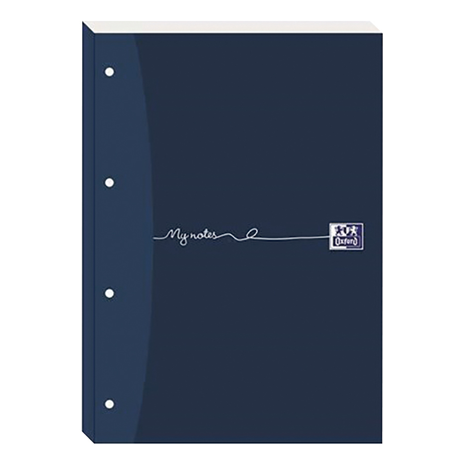 Oxford MyNotes Refill Pad Sidebd 90gsm Ruled Margin Punched 4 Holes 200pp A4 Blue Ref 100080143 Pack 5
