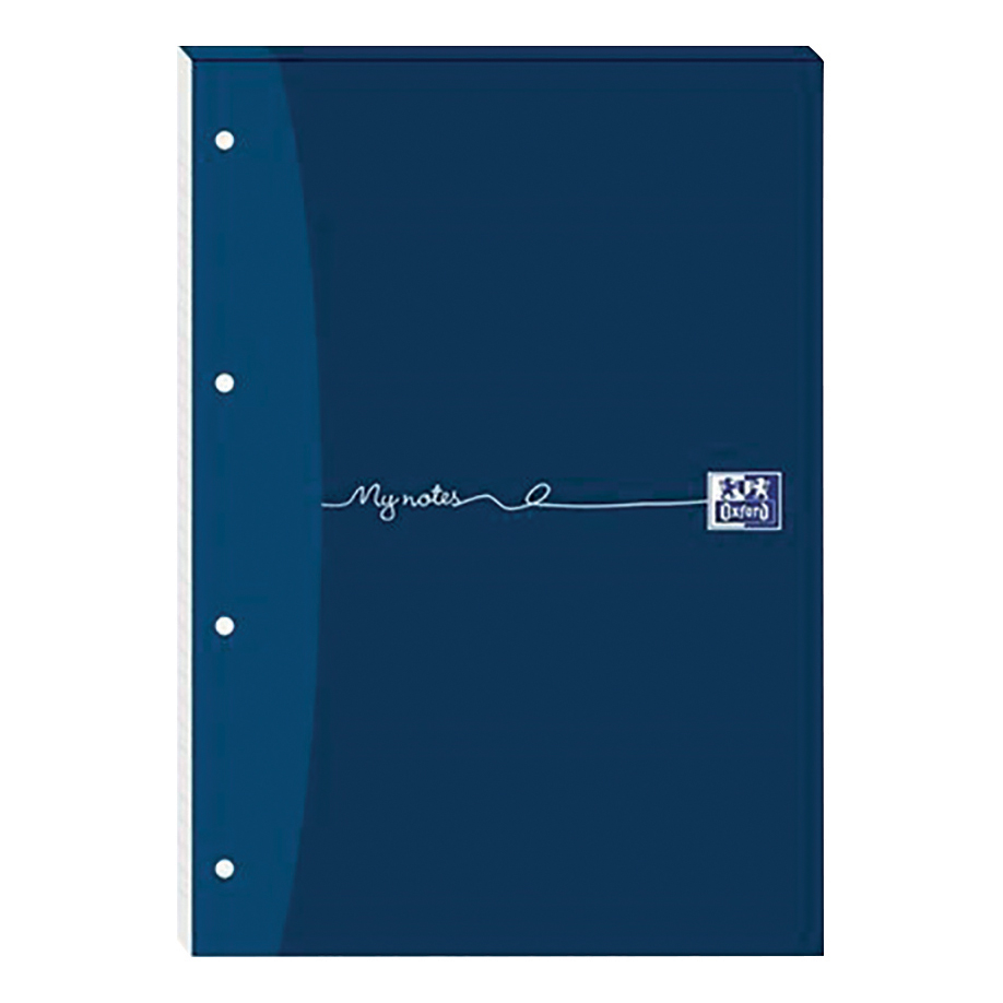 Oxford MyNotes Refill Pad Headbd 90gsm 5mm Squared Punched 4 Holes 160pp A4 Blue Ref 100080199 Pack 5