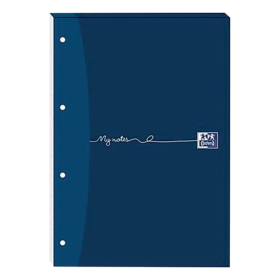 Oxford MyNotes Refill Pad Headbd 90gsm Ruled Margin Punched 4 Holes 160pp A4 Blue Ref 100080212 Pack 5